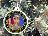 Army Mom Personalized Christmas Ornament