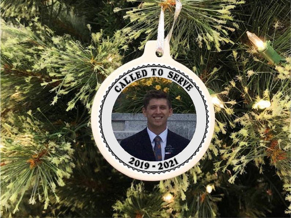 LDS Missionary Personalized Christmas Ornament
