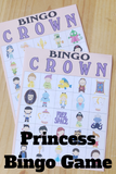 Add some fun to your Princess birthday party with this Disney themed princess bingo game complete with characters from your favorite princess movies! Game includes characters from Alice in Wonderland, Cinderella, Rapunzel, Snow White, Peter Pan, The Little Mermaid, Alladin, Sleeping Beauty, and Princess and the Frog.