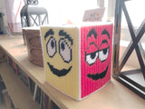 M&M Pick Your Side Plastic Canvas Tissue Box Pattern