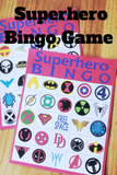 Add this fun Bingo party printable to your super hero party.  With all your favorite superheroes and some you may not even remember, you'll have lots of fun playing bingo with all your friends.