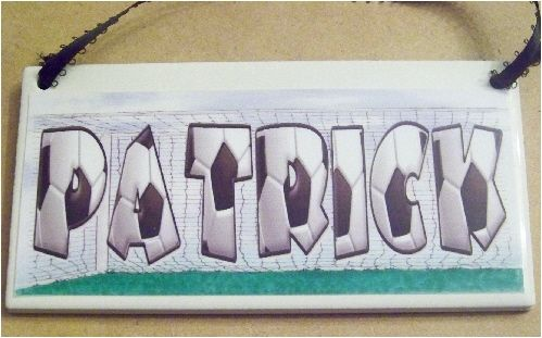 Soccer Goal Personalized Name Plaque