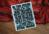 In This House Star Wars Printable