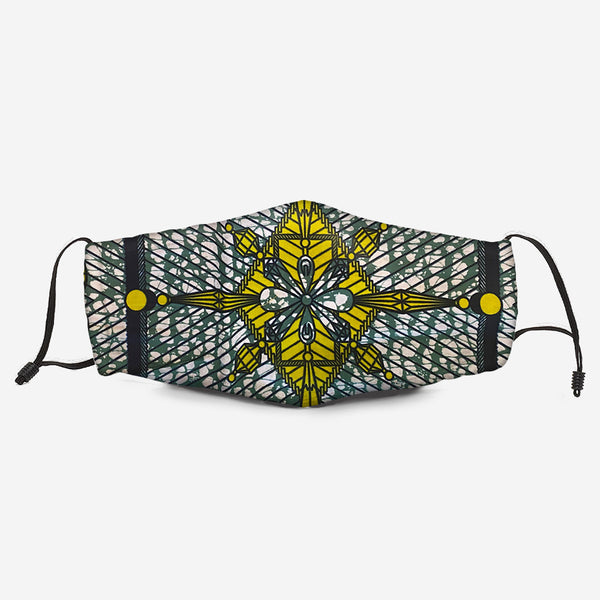The Kente Fabric Mask Q