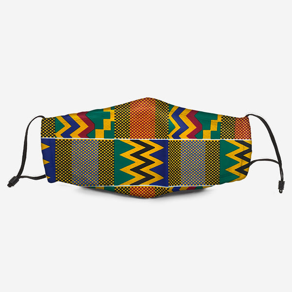 The Kente Fabric Mask R