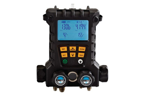CPS MD100WHE | BlackMAX® 4-Valve Wireless Digital Manifold with 2 Clamp Probes & 5' Hoses