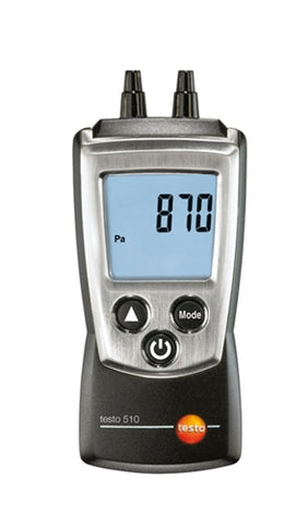 Testo 510 Manometer with Differential Pressure 0563-0510