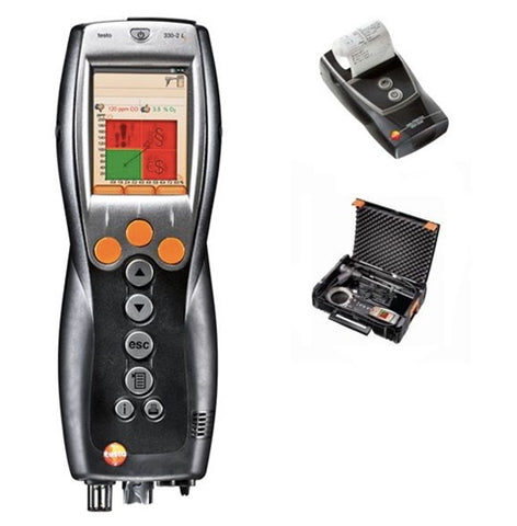 Testo 330-1G LL Combustion Analyzer with Case & Printer
