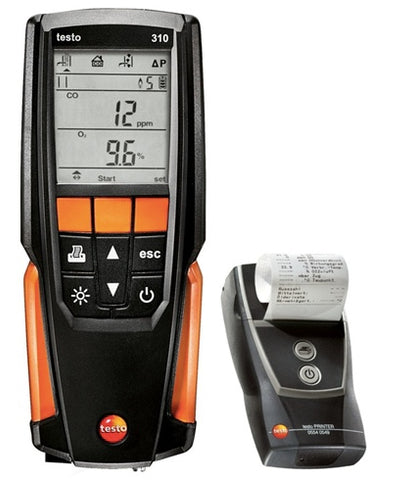 Testo 310 Combustion Analyzer with Printer