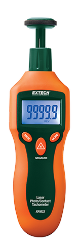 Extech RPM33: Combination Contact / Laser Photo Tachometer