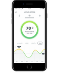 Airthings Wave Smart Radon Detector Display on Free App