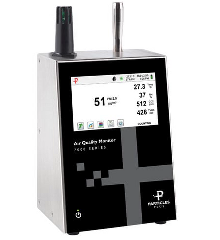 Particles Plus 7301-AQM Remote Air Quality and Environmental Monitor - 6 Channels, 0.3 - 25 Microns