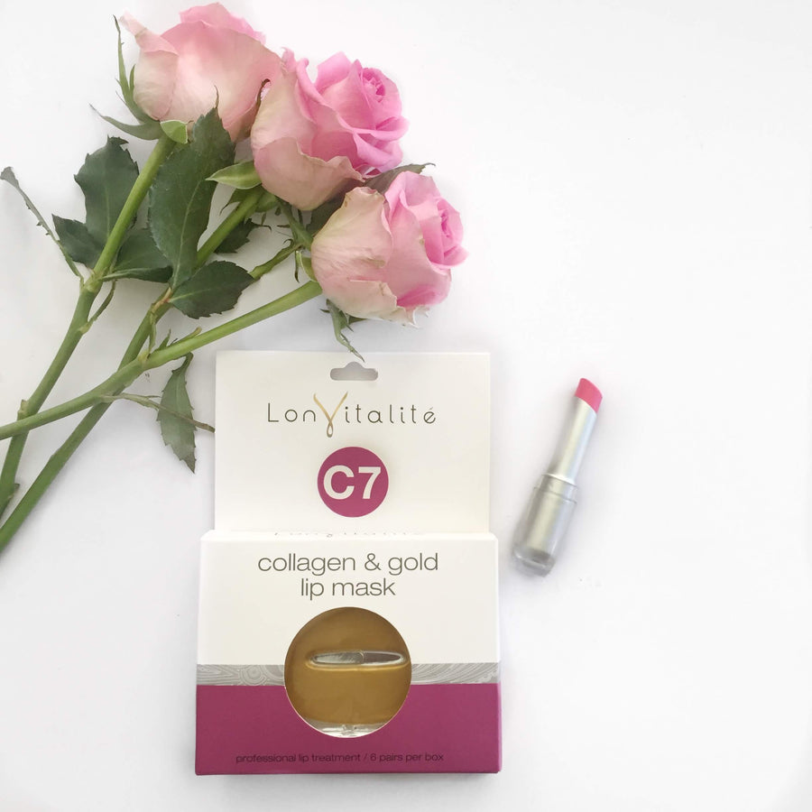 LONVITALITÉ Collagen & Gold Lip Mask Set, Lip Treatment, LONVITALITÉ, Luvi Beauty