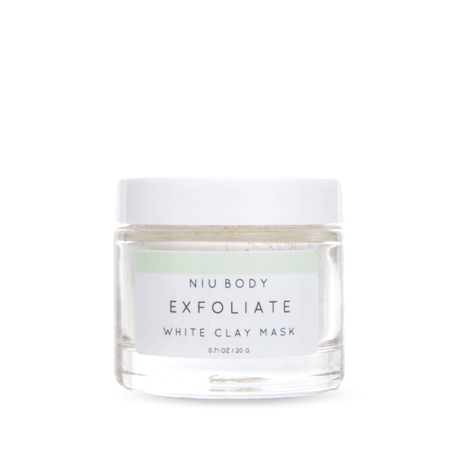 NIU BODY Exfoliate White Clay Mask, Face Mask, NIU BODY, Luvi Beauty