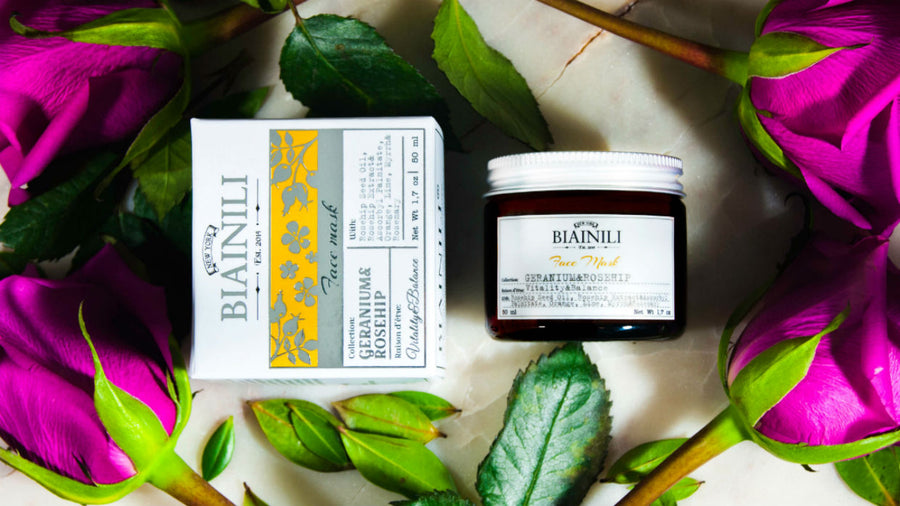 BIAINILI  Geranium & Rosehip Petals Instant Brightening Face Mask, Face Mask, BIAINILI, Luvi Beauty