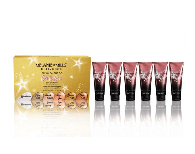 MELANIE MILLS Get It Girl Gleam On the Go Body Radiance 6pc Collection, Body Makeup, MELANIE MILLS, Luvi Beauty & Wellness