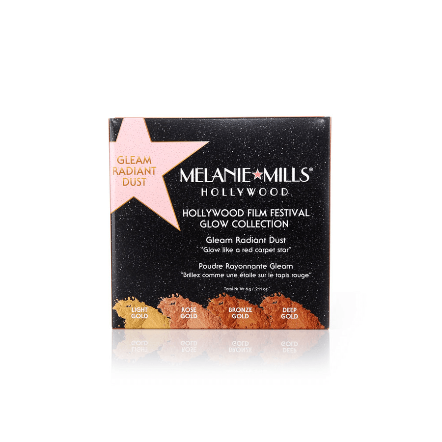 MELANIE MILLS Hollywood Film Festival GLOW Collection - Gleam Radiant Dust Shimmering Loose Powder, Highlighter, MELANIE MILLS, Luvi Beauty & Wellness