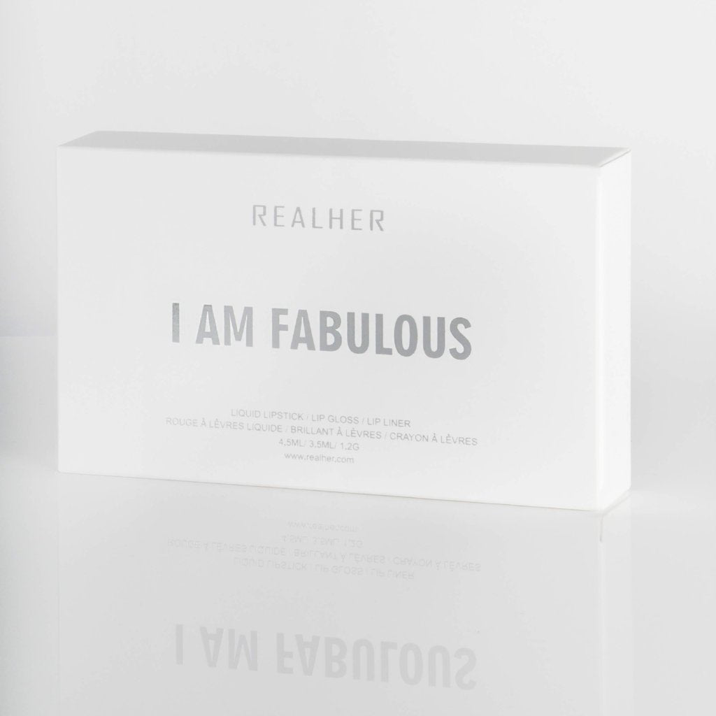 REALHER Lip Kit - I AM FABULOUS, Lipstick, REALHER, Luvi Beauty