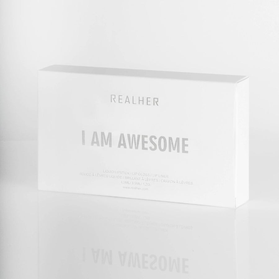 REALHER Lip Kit - I AM AWESOME, Lipstick, REALHER, Luvi Beauty