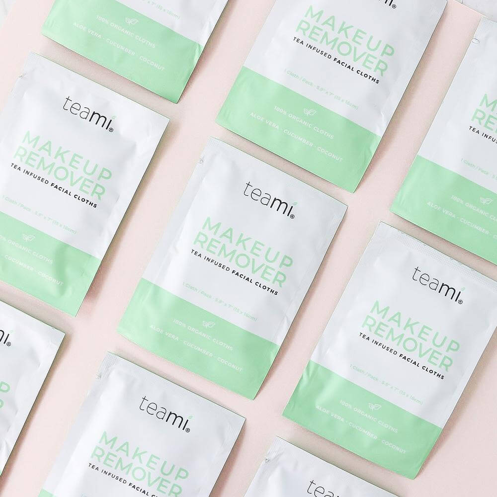 TEAMI Organic Makeup Remover Cloths, Facial Cleanser, TEAMI, Luvi Beauty & Wellness