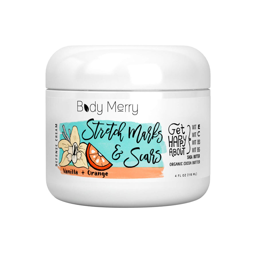 BODY MERRY Vanilla Orange Stretch Mark & Scars Defense Cream, Body Treatment, BODY MERRY, Luvi Beauty