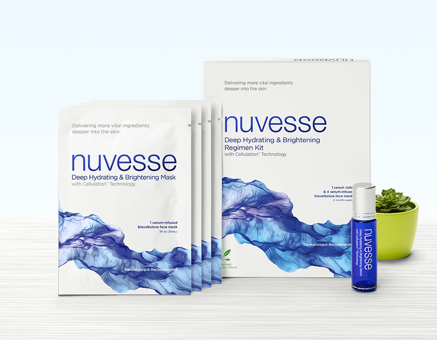 NUVESSE Deep Hydrating & Brightening Regimen Kit (FACE), Face Mask, NUVESSE, Luvi Beauty