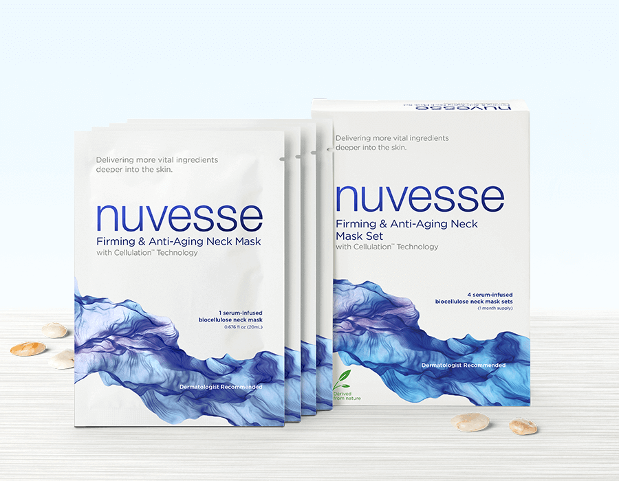 NUVESSE Firming & Anti-Aging Neck Mask Set (NECK), Face Mask, NUVESSE, Luvi Beauty