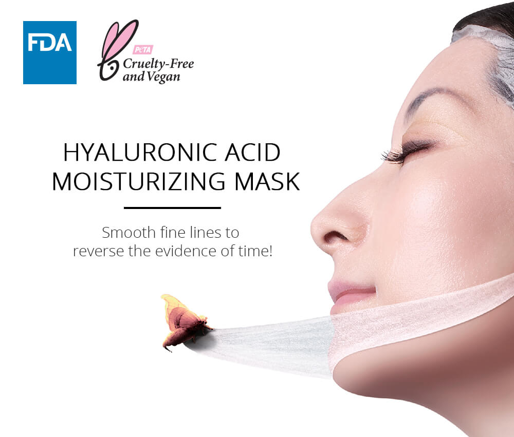 MíDFLOWER Hyaluronic Acid Moisturizing Mask (4pc Pack), Face Mask, MIDFLOWER, Luvi Beauty