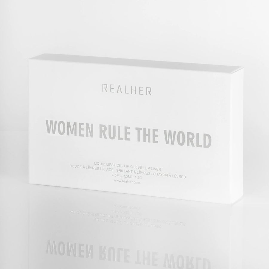 REALHER Lip Kit - WOMEN RULE THE WORLD, Lipstick, REALHER, Luvi Beauty