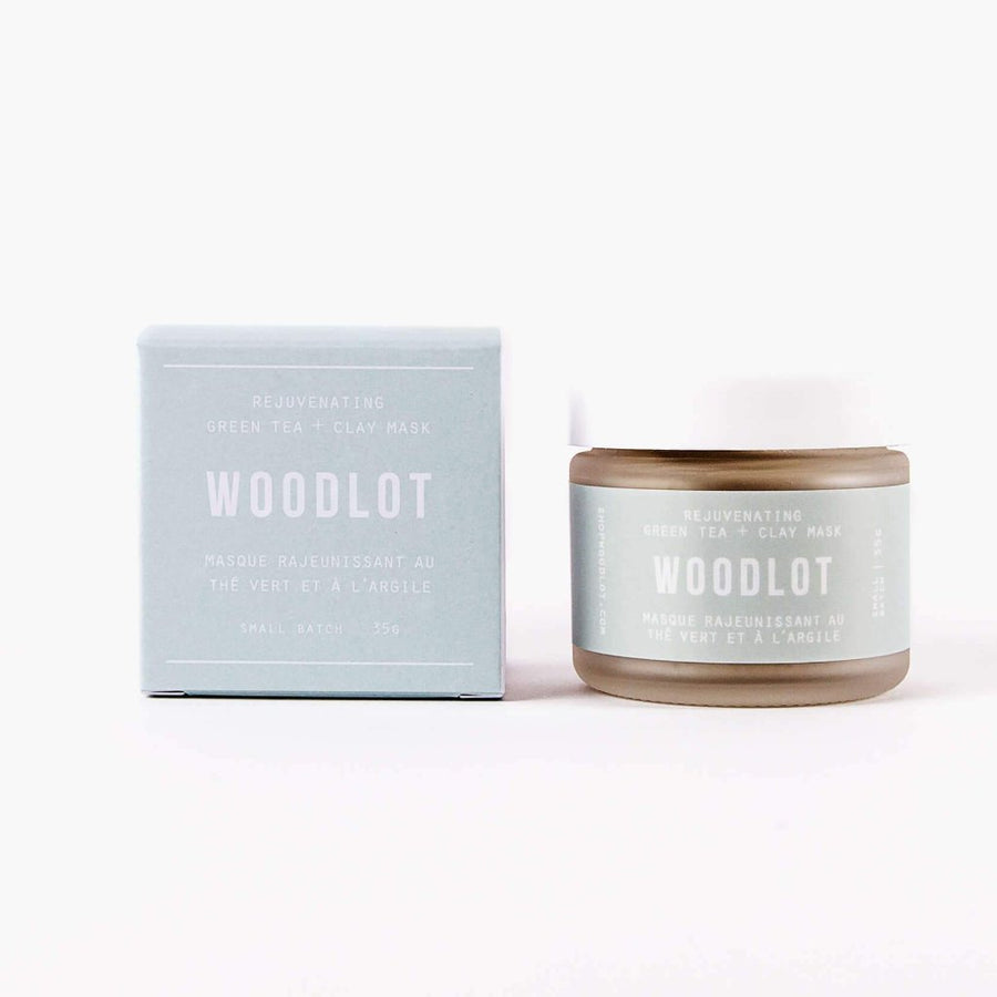 WOODLOT Rejuvenating Green Tea Clay Mask, Face Mask, WOODLOT, Luvi Beauty