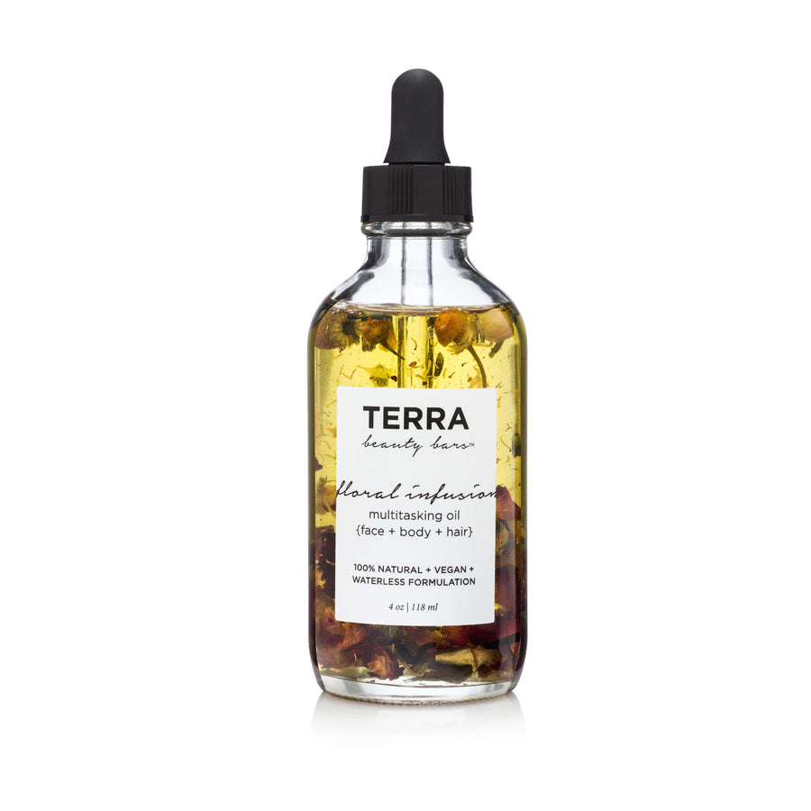 TERRA BEAUTY BARS Floral Infusion Multitasking Oil for Body + Hair-MULTI-USE OIL-Luvi Beauty & Wellness