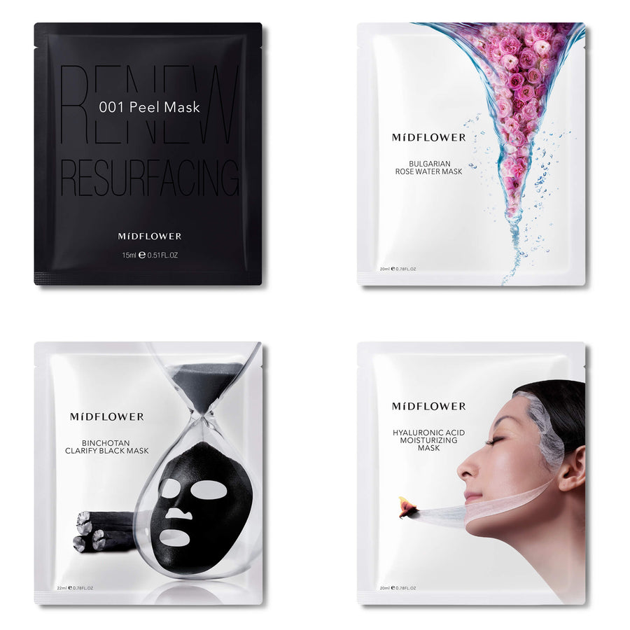 MiDFLOWER Ultimate Skincare Sheet Mask Pack (4pc Pack), Face Mask, MIDFLOWER, Luvi Beauty & Wellness