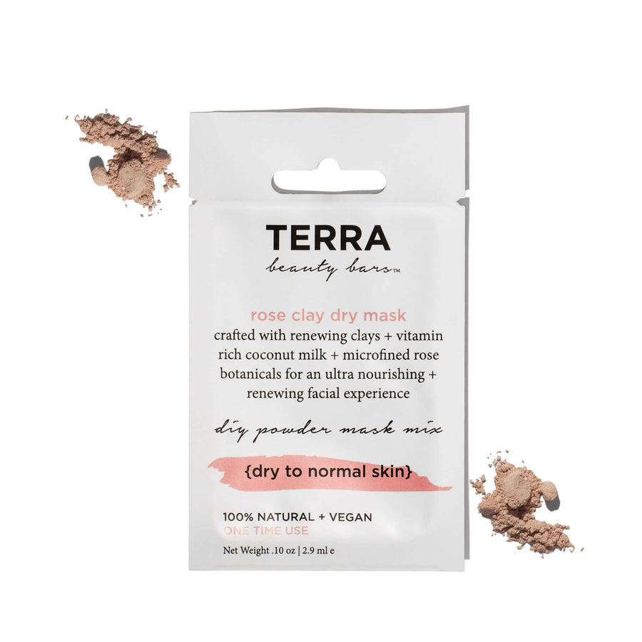 TERRA BEAUTY BARS Rose Clay Dry Mask, Face Mask, TERRA BEAUTY BARS, Luvi Beauty