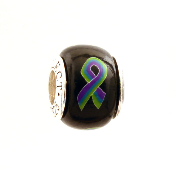 Medullary Sponge Kidney (MSK) (Cacchi-Ricci Disease) Awareness Ribbon Charm