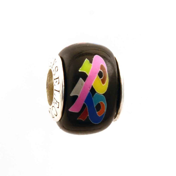 Multiple Cancer Awareness Ribbons Charm