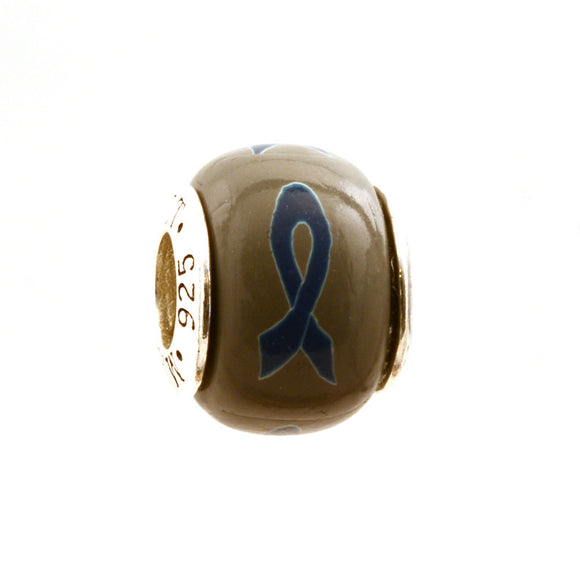 Navy Blue Ribbon Awareness Charm
