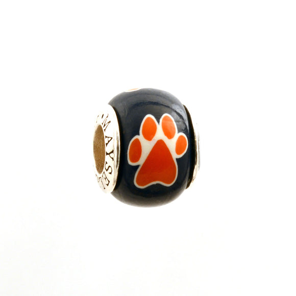 Paw Prints - Orange on Navy
