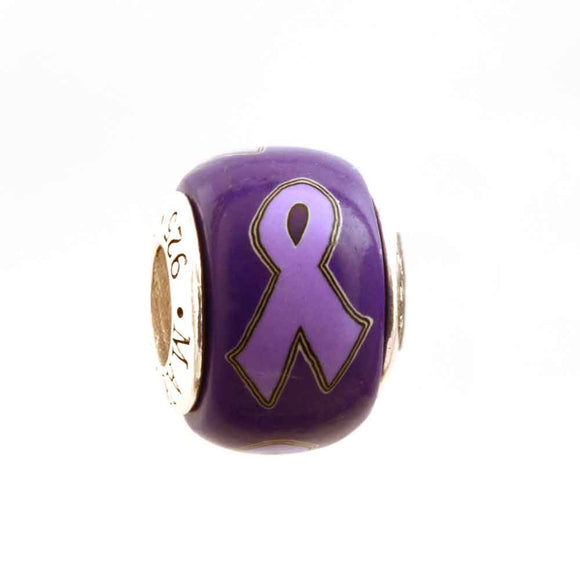 Epilepsy Lavender Ribbon on Purple Charm