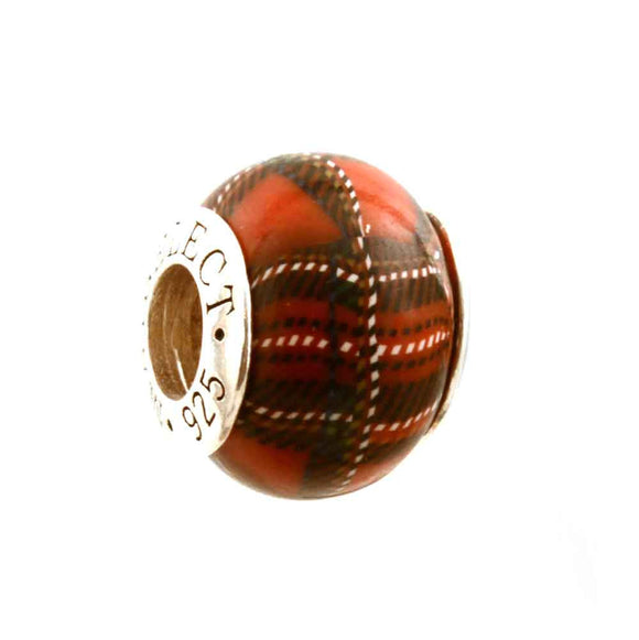 Red & Black Plaid Charm