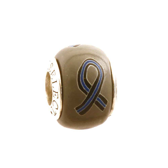 Thin Blue Line Ribbon Charm