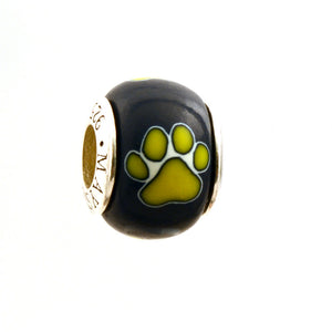 Paw Prints - Yellow on Navy