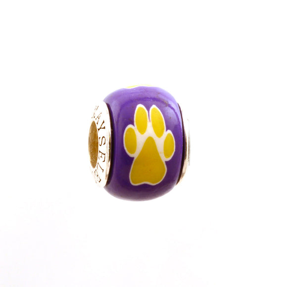 Paw Prints - Yellow on Purple