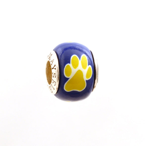 Paw Prints - Yellow on Royal
