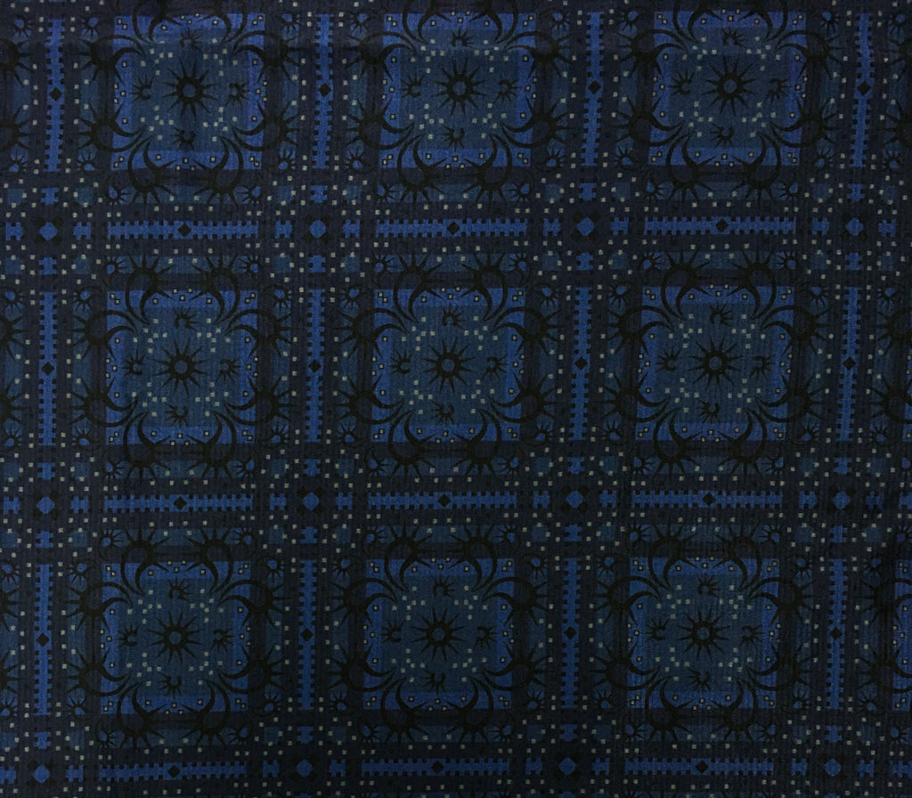Bandana Blue Printed Cotton Silk