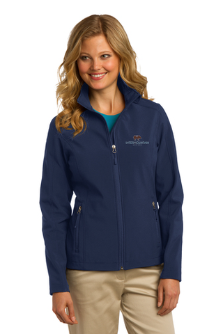 Port Authority Ladies' Core Soft Shell Jacket (Navy)