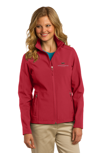 Port Authority Ladies' Core Soft Shell Jacket (Rich Red)