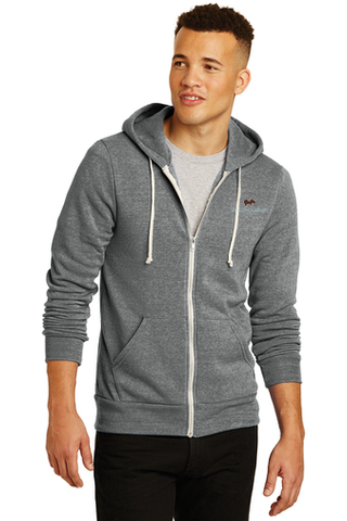 Alternative Rocky Eco™-Fleece Zip Hoodie (Grey)