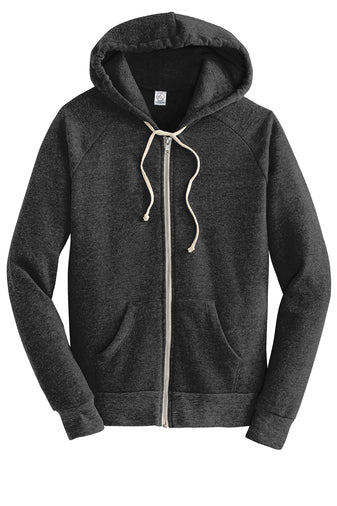 Alternative Adrian Eco™ Fleece Zip Hoodie (Black)