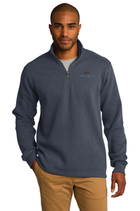 Port Authority® Slub Fleece 1/4-Zip Pullover (Slate Grey)