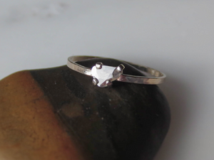 Dainty Diamond Slice Ring | Minimalist Engagement Ring